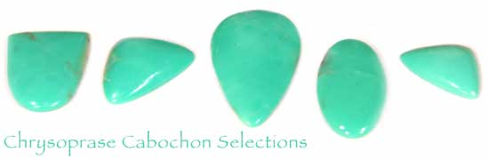 Assorted Chrysoprase Cabochon Selections