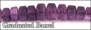 Amethyst Graduated Barrel Beads