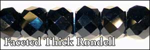 Faceted Thick Rondell Beads
