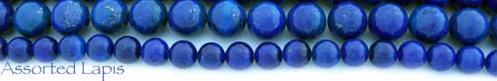 Assorted Lapis Beads