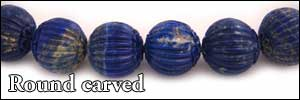 Round Carved Beads