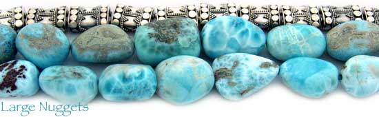 Large Larimar Nuggets