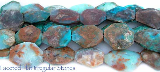 Faceted Flat Irregular Stones
