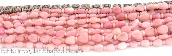 Petite Irregular Shaped Pink Opal Beads