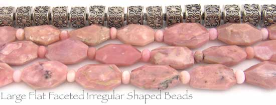 Large Irregular Shaped Pink Opal Beads