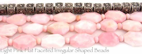 Light Pink Large Irregular Shaped Pink Opal Beads