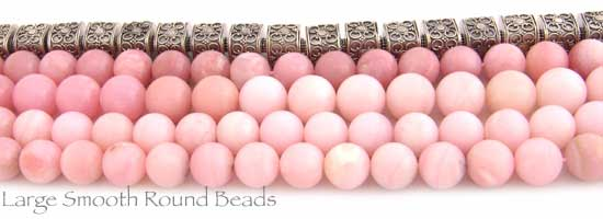 Large Smooth Round Pink Opal Beads