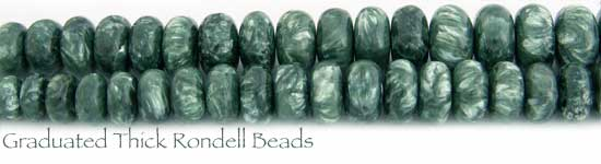Graduated Thick Rondell Seraphinite Beads