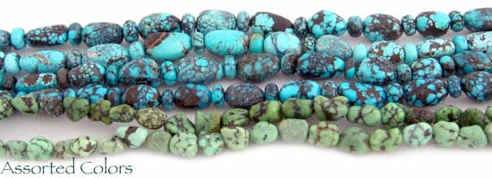 Smooth Turquoise Nuggets