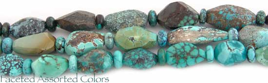 Faceted Assorted Color Turquoise