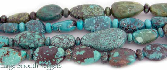 Large Smooth Turquoise Nuggets