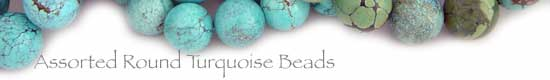 Turquoise Assorted Round Beads
