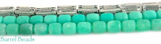 Barrel Shaped Chrysoprase Beads