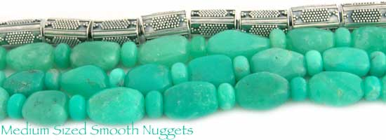Medium Sized Smooth Chrysoprase Nuggets