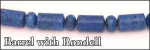 Barrel with Rondell Beads