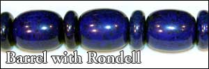 Barrel Mixed with Rondell Beads