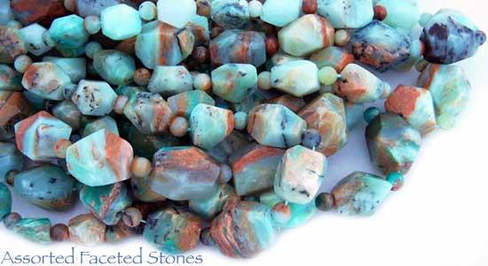 Assorted Faceted Stones